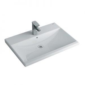 Chậu lavabo bán âm bàn Inax L-2397V(EC/FC)