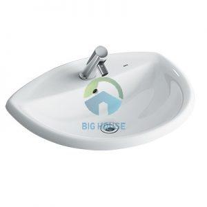 Chậu lavabo âm bàn Inax L-2396V(EC/FC)