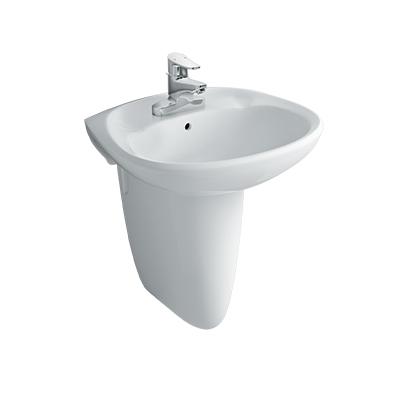 Chậu lavabo treo tường Inax L-284V(EC/FC)(Chân ngắn)