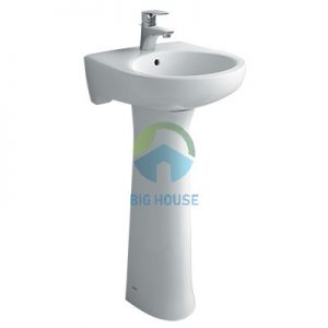 Chậu lavabo treo tường Inax L-284V(EC/FC)(Chân dài )