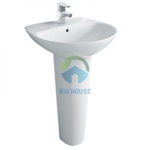 Chậu lavabo treo tường Inax L-285V(EC/FC)( chân dài)