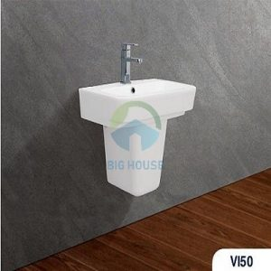Chậu lavabo treo tường Viglacera V50+C