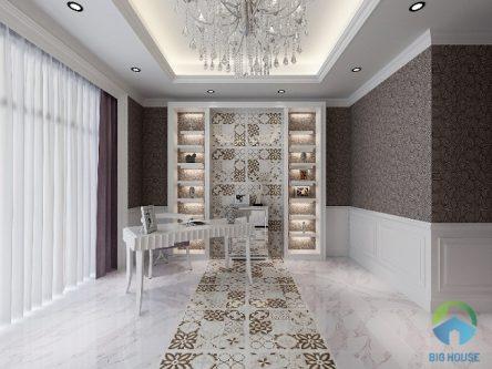 9 mẫu gạch lát nền trang trí phòng khách đẹp mê ly