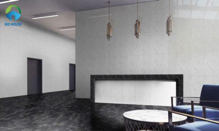 Cách phối màu gạch ốp tường phòng khách của các kiến trúc sư
