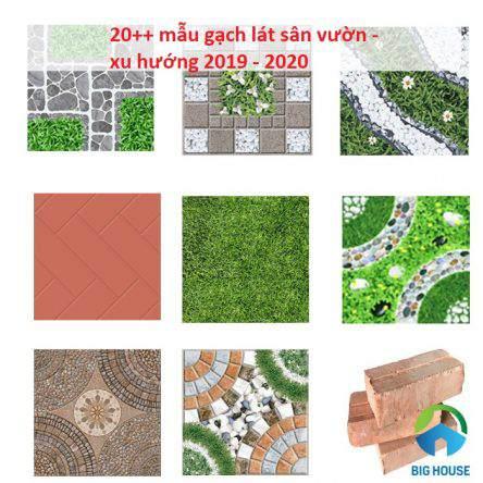 Các loại gạch lát sân vườn được ưa chuộng nhất hiện nay