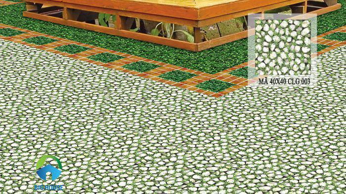 Gạch cỏ sân vườn Đồng Tâm CLG003 với kích thước 40x40 thông dụng.