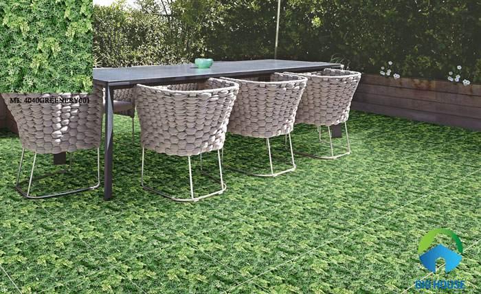 Gạch giả cỏ sân vườn 40xx40 Greenery 002