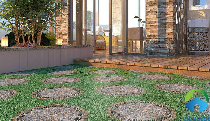gạch cỏ lát sân vườn 18