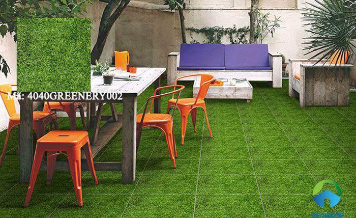 gạch cỏ lát sân vườn 9
