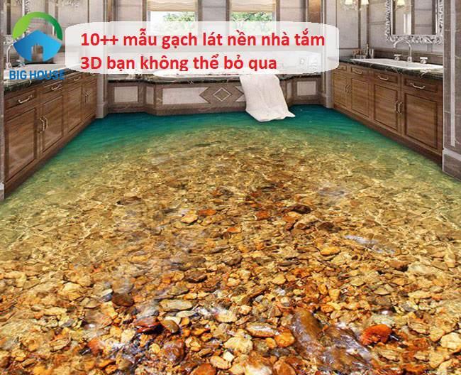gạch lát nền nhà tắm 3d 5.1