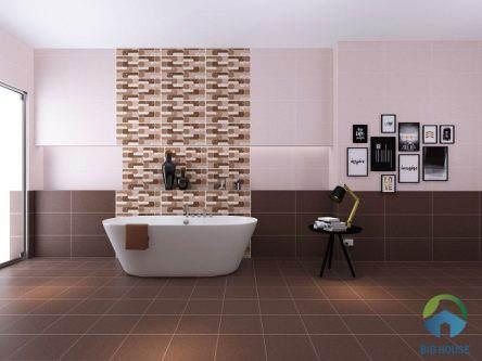 Ấn tượng 20 mẫu gạch lát nền nhà vệ sinh màu nâu đẹp