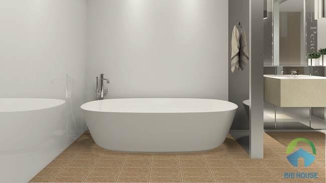 gạch lát nền nhà vệ sinh màu nâu 4