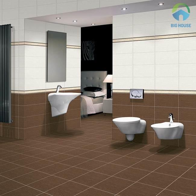 gạch lát nền nhà vệ sinh màu nâu 5