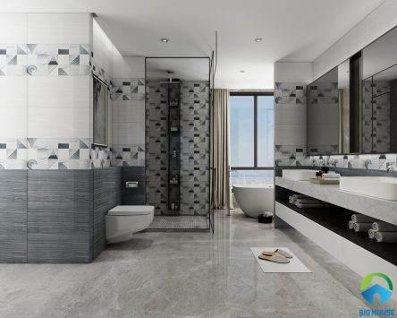 50+ mẫu gạch ốp nhà tắm, nhà vệ sinh đẹp ấn tượng