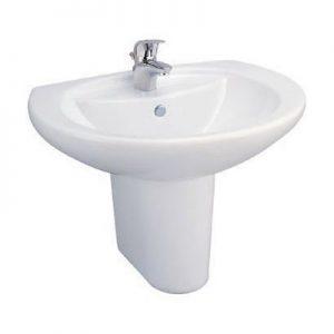 Chậu lavabo treo tường chân ngắn Cotto C0107