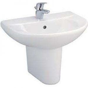 Chậu lavabo treo tường chân dài Cotto C014