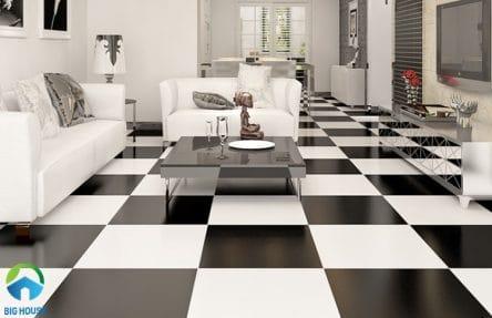 Gạch lát nền đen trắng: TOP mẫu đẹp và 4 nguyên tắc VÀNG cần nhớ