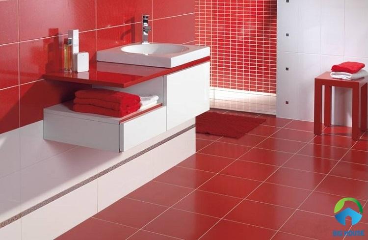 gạch lát nền màu đỏ 8