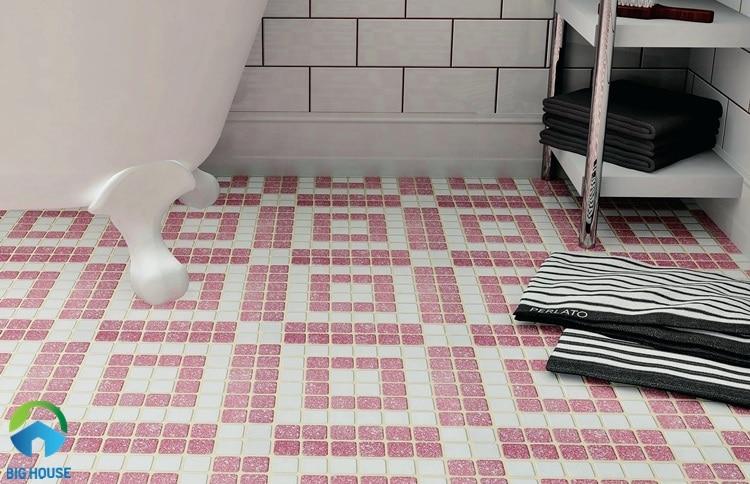 gạch lát nền màu hồng 10