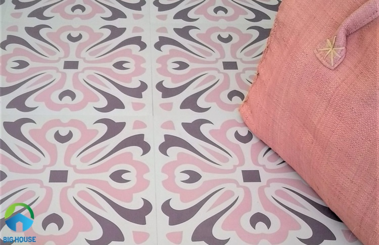 gạch lát nền màu hồng 15