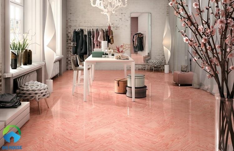 gạch lát nền màu hồng 7