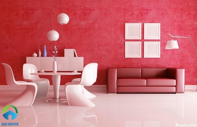 gạch lát nền màu hồng 8