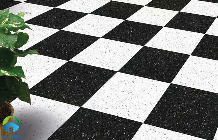 gạch lát nền trắng đen 3