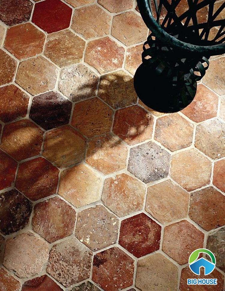Gạch gốm lục giác mang đến nét hoài cổ mà các mẫu gạch khác không làm được