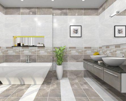 Chiều cao gạch ốp nhà vệ sinh: Chọn kích thước nào đẹp nhất?