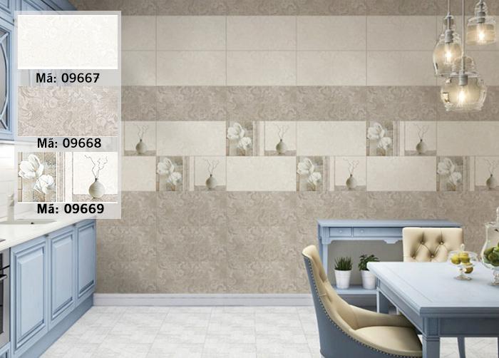 Bộ 3 mẫu gạch ốp bếp Prime 05.300600.09667, 09668 và 09669