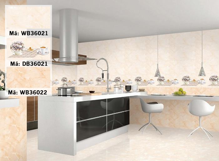 Bộ gạch ốp bếp TTC DB36021 - WB36021 - WB36022
