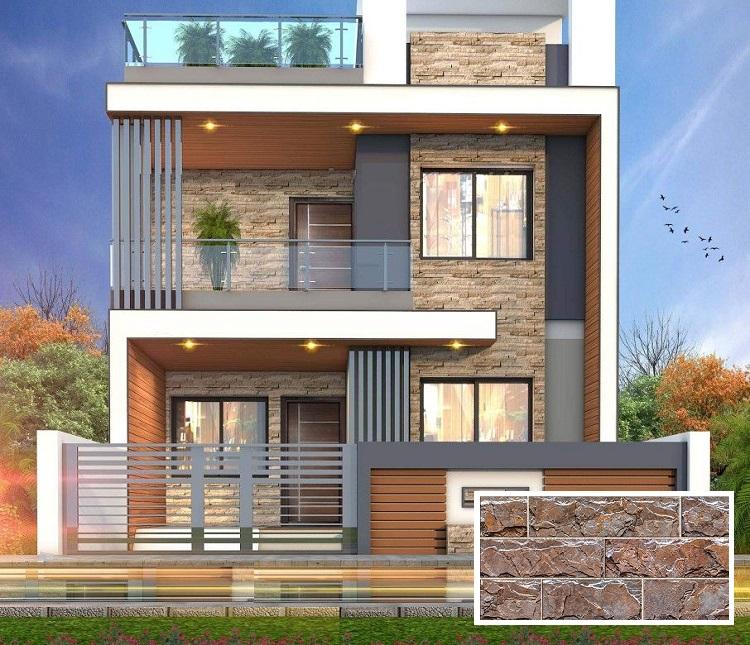 Nếu bạn muốn mặt tiền nhà sở hữu vẻ đẹp theo phong cách Rustic, thô mộc. Thì mẫu gạch ngoại thất giả đá Prime 01.200400.09812 chính là sự lựa chọn phù hợp nhất