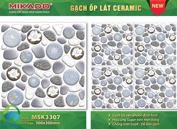 Nếu bạn đang tìm kiếm một mẫu gạch sỏi có tông màu và họa tiết nhẹ nhàng thì Mikado MSK 3307 chính là một sự lựa chọn đáng tham khảo.