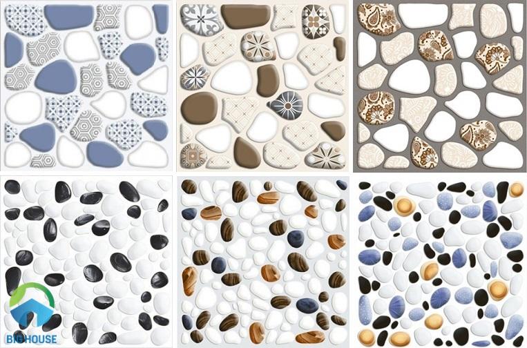 Gạch sỏi CMC có mẫu mã đa dạng, màu sắc phong phú.