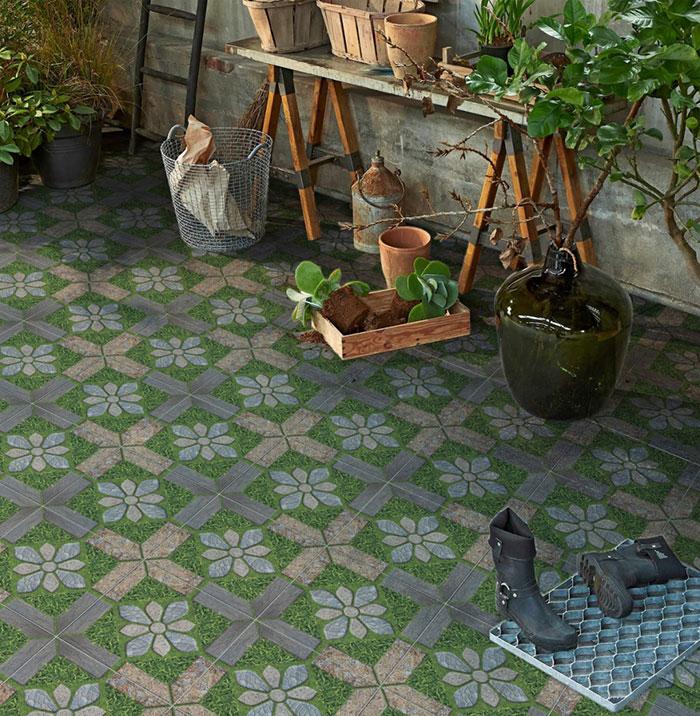 Không gian sân vườn nhà bạn trở nên bắt mắt hơn hẳn khi lát nền bằng mẫu gạch Prime chống trơn 09311.