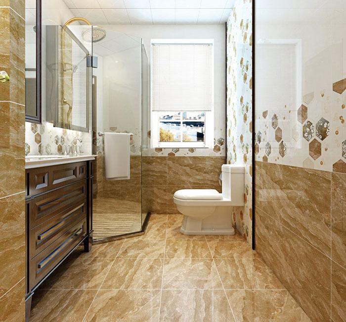 Phòng tắm nhà bạn trông không khác gì khách san 5 sao khi lát nền bằng gạch Tasa 4114 màu nâu vân đá