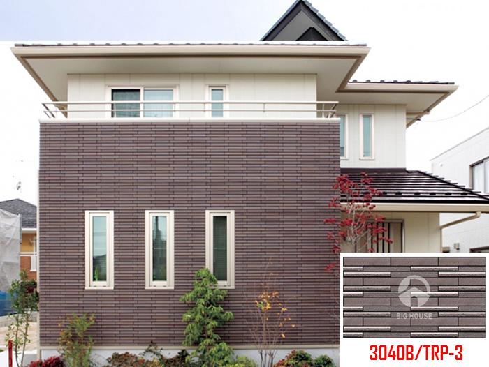 Gạch ốp mặt tiền Inax 3040B/TRP-3 được thiết kế dưới mẫu giả cổ. Sản phẩm có tông màu nâu phù hợp với các kiến trúc nhà cấp 4.