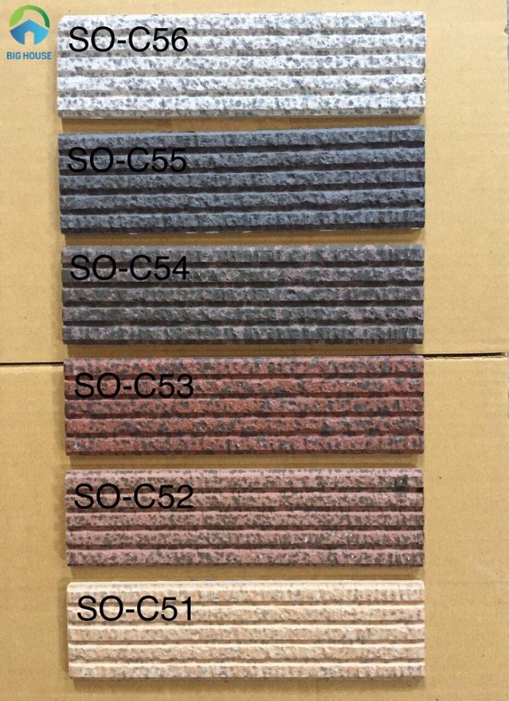 Một số mẫu gạch thẻ ốp trang trí mặt tiền nhà đơn màu, có xẻ rãnh thực tế để bạn tham khảo.