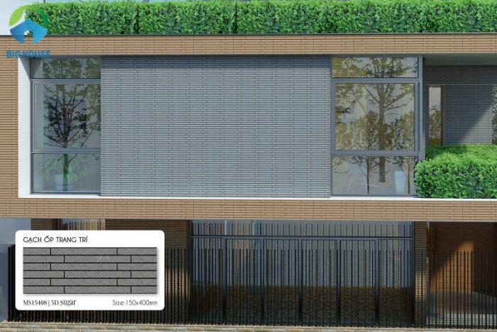 Với những không gian kiến trúc hiện đại, gạch thẻ ốp tường màu xám là lựa chọn rất phù hợp