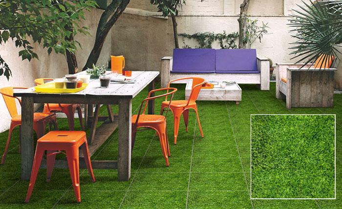Mẫu gạch chống trơn lát sân vườn giả cỏ Đồng Tâm 4040GREENERY002 mang vẻ đẹp tự nhiên, tràn đầy sức sống
