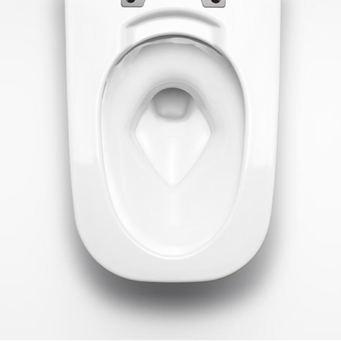 Công nghệ men sứ Aqua Ceramic đôc quyền của Inax giúp rửa sạch chất bẩn dễ dàng
