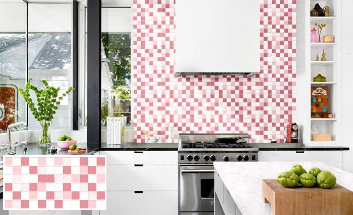 Không gian bếp trở nên nổi bật hơn khi ốp tường bằng mẫu 3060MOSAIC002 của Đồng Tâm