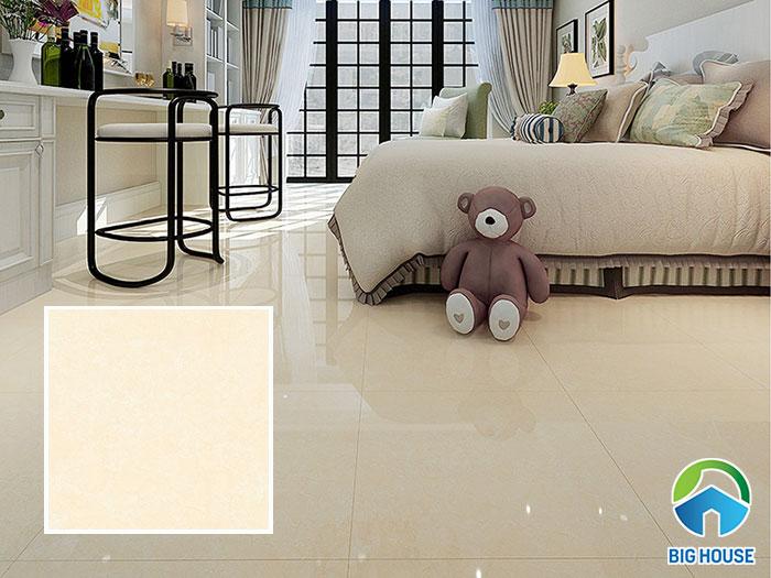 Phòng ngủ ấm cúng hơn với mẫu gạch vân đá màu vàng kem 37004