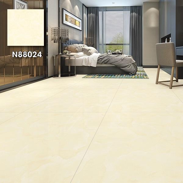 Tham khảo mẫu gạch Ý Mỹ N88024 có bề mặt nhẵn rất dễ vệ sinh, lau chùi. Đặc biệt, gia chủ có thể linh hoạt kết hợp đồ nội thất với màu sắc đa dạng.
