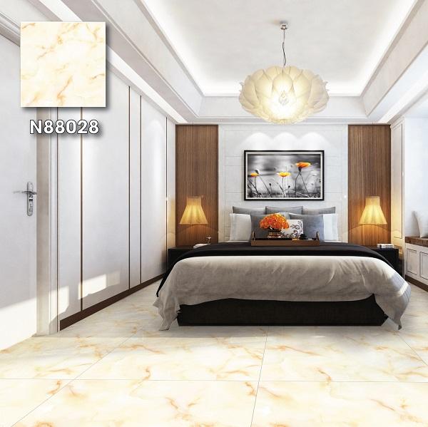 Không thể bỏ lỡ mẫu gạch Ý Mỹ N88028 80x80 lát phòng ngủ đầy cuốn hút. Với mẫu gạch này, bạn có thể kết hợp cùng nội thất màu gỗ đậm hoặc tone trắng.