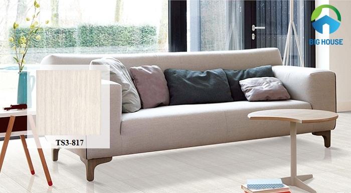 Họa tiết vân gỗ sọc với tông màu sáng của sản phẩm giúp đem đến nét đẹp sang trọng cho không gian