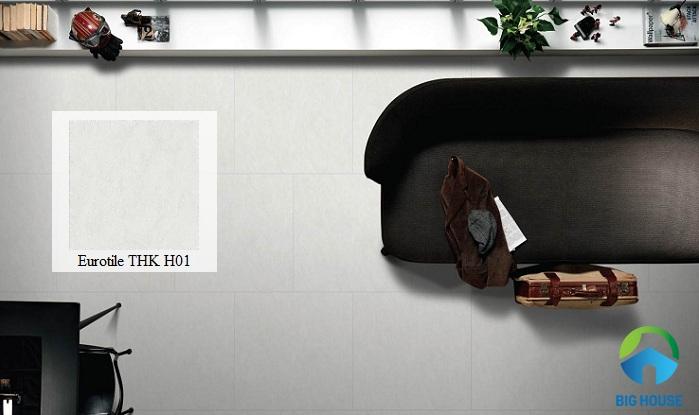 Gạch Eurotile THK H01 mang đường vân đá nhẹ với gam màu trung tính đơn giản mà không hề kém phần nổi bật