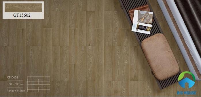 Gam màu nâu tông trầm của gạch giả gỗ Viglacera GT15602 mang đến nét đẹp nhẹ nhàng, cổ điển