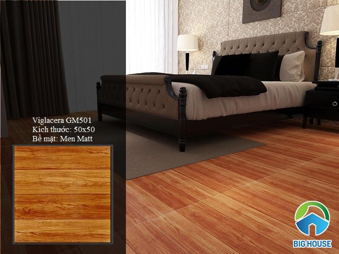 gạch lát phòng ngủ giả gỗ GM501