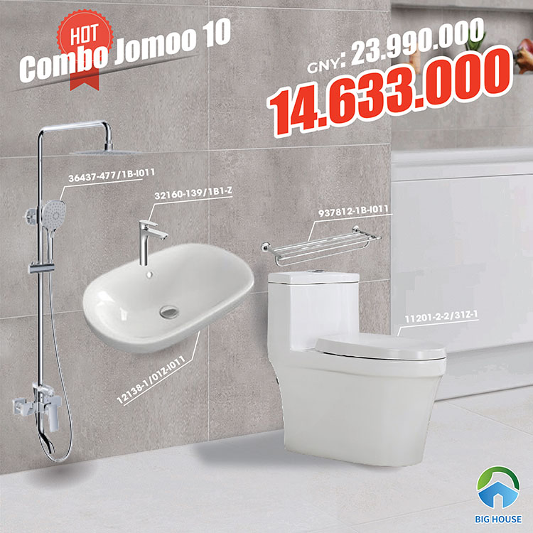 Combo thiết bị vệ sinh Jomoo 10